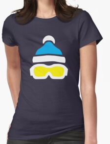 Ski Goggles & Bobble Hat  Womens Fitted T-Shirt