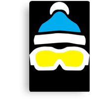 Ski Goggles & Bobble Hat  Canvas Print