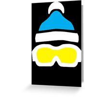 Ski Goggles & Bobble Hat  Greeting Card