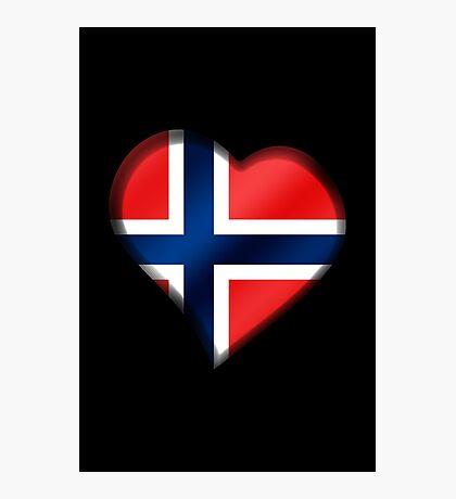 Norwegian Flag - Norway - Heart Photographic Print