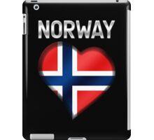 Norway - Norwegian Flag Heart & Text - Metallic iPad Case/Skin