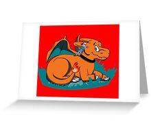 Char The Big Red Dragon Greeting Card