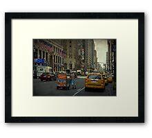 Streets of New York Framed Print