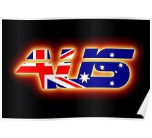 AUS - Australia Flag Logo - Glowing Poster