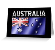 Australia - Australian Flag & Text - Metallic Greeting Card