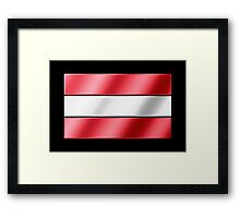 Austrian Flag - Austria - Metallic Framed Print