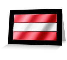 Austrian Flag - Austria - Metallic Greeting Card