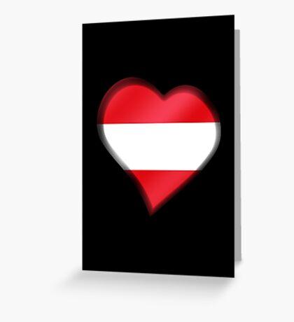 Austrian Flag - Austria - Heart Greeting Card