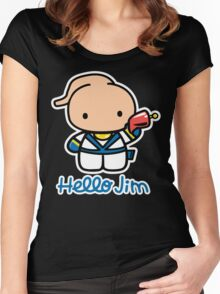 Hello Jim Women's Fitted Scoop T-Shirt