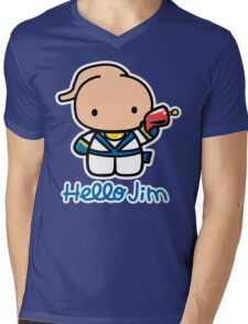 Hello Jim Mens V-Neck T-Shirt