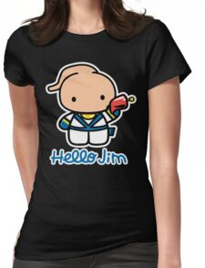 Hello Jim Womens Fitted T-Shirt