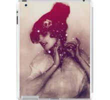 Girl tied the hat iPad Case/Skin