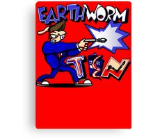 Earthworm Ten Canvas Print