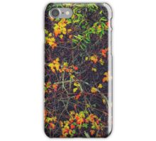 red yellow orange and green leaves background iPhone Case/Skin