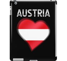 Austria - Austrian Flag Heart & Text - Metallic iPad Case/Skin