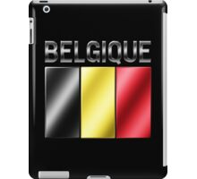 Belgique - Belgian Flag & Text - Metallic iPad Case/Skin