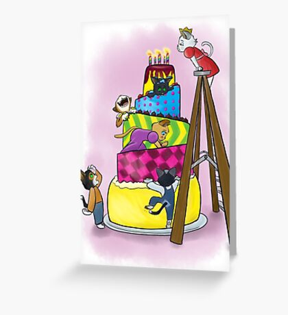 Kittens and Candles Greeting Card