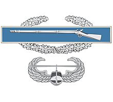 Combat Infantry Badge and Air Assault Photographic Print