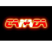 Canada - Flag Logo - Glowing Photographic Print