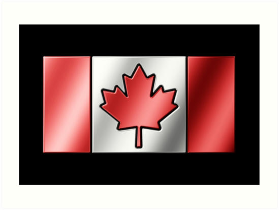 Canadian Flag 2 - Canada - Metallic by graphix