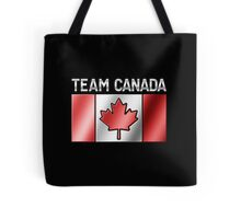Team Canada - Canadian Flag & Text - Metallic Tote Bag