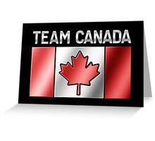 Team Canada - Canadian Flag & Text - Metallic Greeting Card