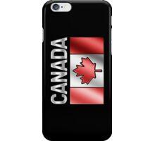 Canada - Canadian Flag & Text - Metallic iPhone Case/Skin