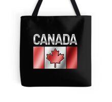 Canada - Canadian Flag & Text - Metallic Tote Bag