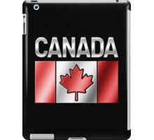 Canada - Canadian Flag & Text - Metallic iPad Case/Skin