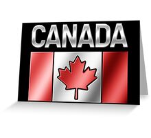 Canada - Canadian Flag & Text - Metallic Greeting Card