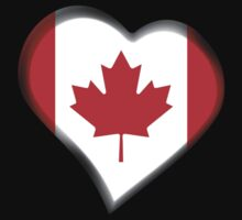 Canadian Flag - Canada - Heart Kids Clothes