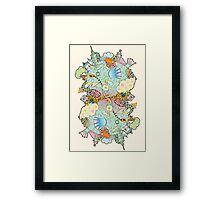 Puffer Puffing On A Water Pipe Framed Print