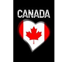 Canada - Canadian Flag Heart & Text - Metallic Photographic Print