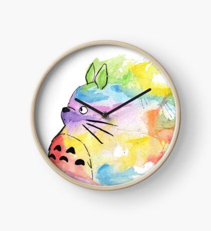 Rainbow Totoro  Clock