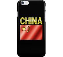 China - Chinese Flag & Text - Metallic iPhone Case/Skin