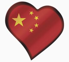 Chinese Flag - China - Heart Kids Clothes