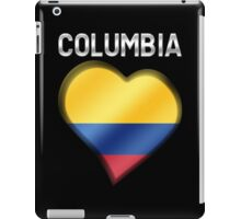 Columbia - Columbian Flag Heart & Text - Metallic iPad Case/Skin