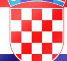 Croatian Flag - Croatia - Heart Sticker