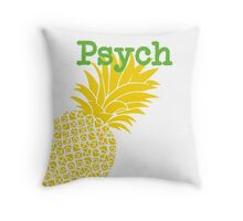 Minimalist Psych TV Show Pop Culture Lime Yellow Fun Green Pineapple Throw Pillow