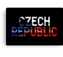 Czech Republic - Czech Flag - Metallic Text Canvas Print