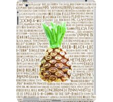 Psych Burton Guster Nicknames - Television Show Pineapple Room Decorative TV Pop Culture Humor Lime Neon Brown iPad Case/Skin