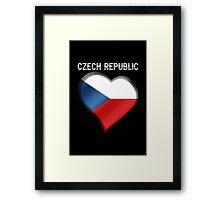 Czech Republic - Czech Flag Heart & Text - Metallic Framed Print
