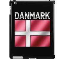 Danmark - Danish Flag & Text - Metallic iPad Case/Skin