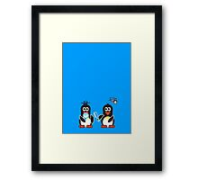 Domestic Penguin - Bad Hair Day Framed Print