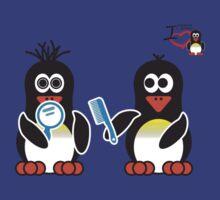 Bathroom Penguin - Bad Hair Day by jimcwood