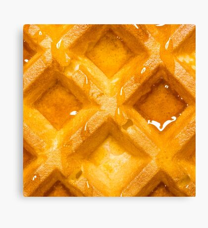 Waffle and Syrup Canvas Print