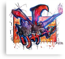 Epic Shiny Charizard Streetart Tshirts + More ' Pokemon ' Canvas Print