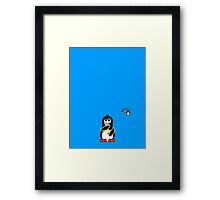Domestic Penguin - Eyeliner Framed Print