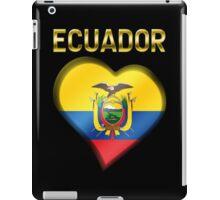 Ecuador - Ecuadorian Flag Heart & Text - Metallic iPad Case/Skin