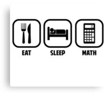 EAT, SLEEP, MATH Canvas Print
